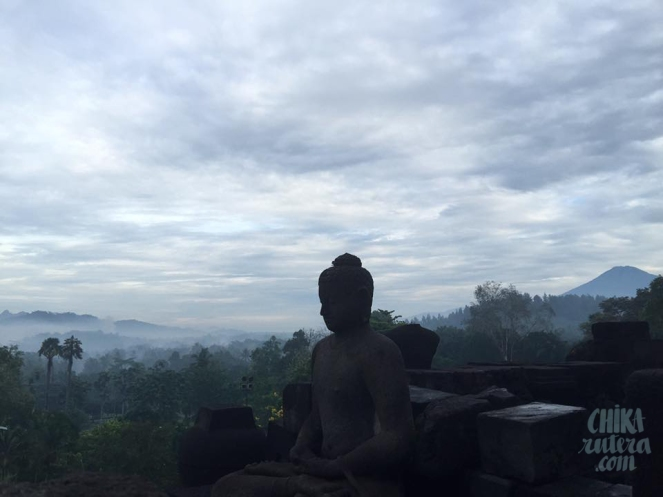 Buda en Borobudur, Isla de Java.